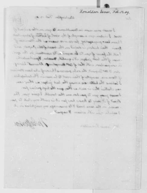Thomas Jefferson to James Ronaldson, February 13, 1809