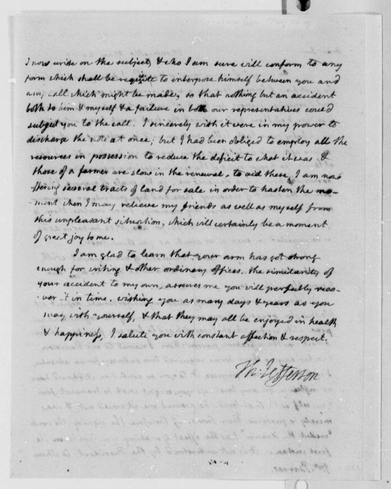 Thomas Jefferson to John S. Barnes, May 24, 1809