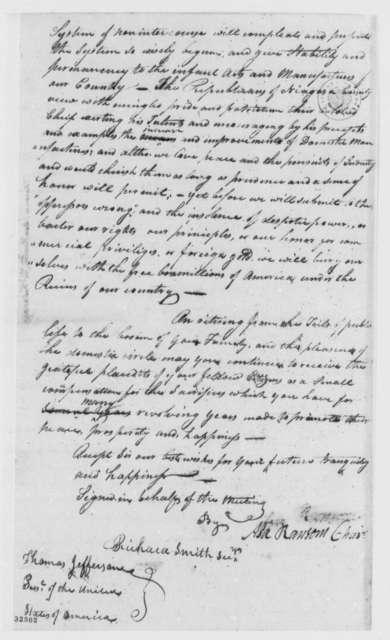 Thomas Jefferson to Niagara County, New York, Republicans, January 26, 1809, Address