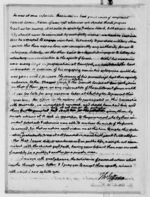 Thomas Jefferson to Valentin de Foronda, October 4, 1809
