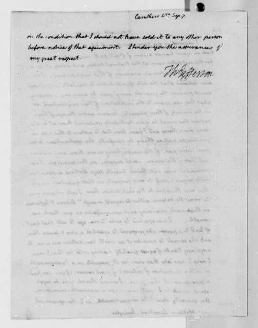 Thomas Jefferson to William Caruthers, September 7, 1809