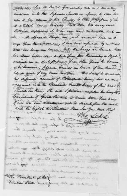 Thomas Lehre to Thomas Jefferson, January 21, 1809