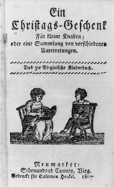 [Title p. of a Christmas book for little boys, a collection of conversations; the 3rd Virginia children's book; illus. with boy and woman seated and evidently conversing]