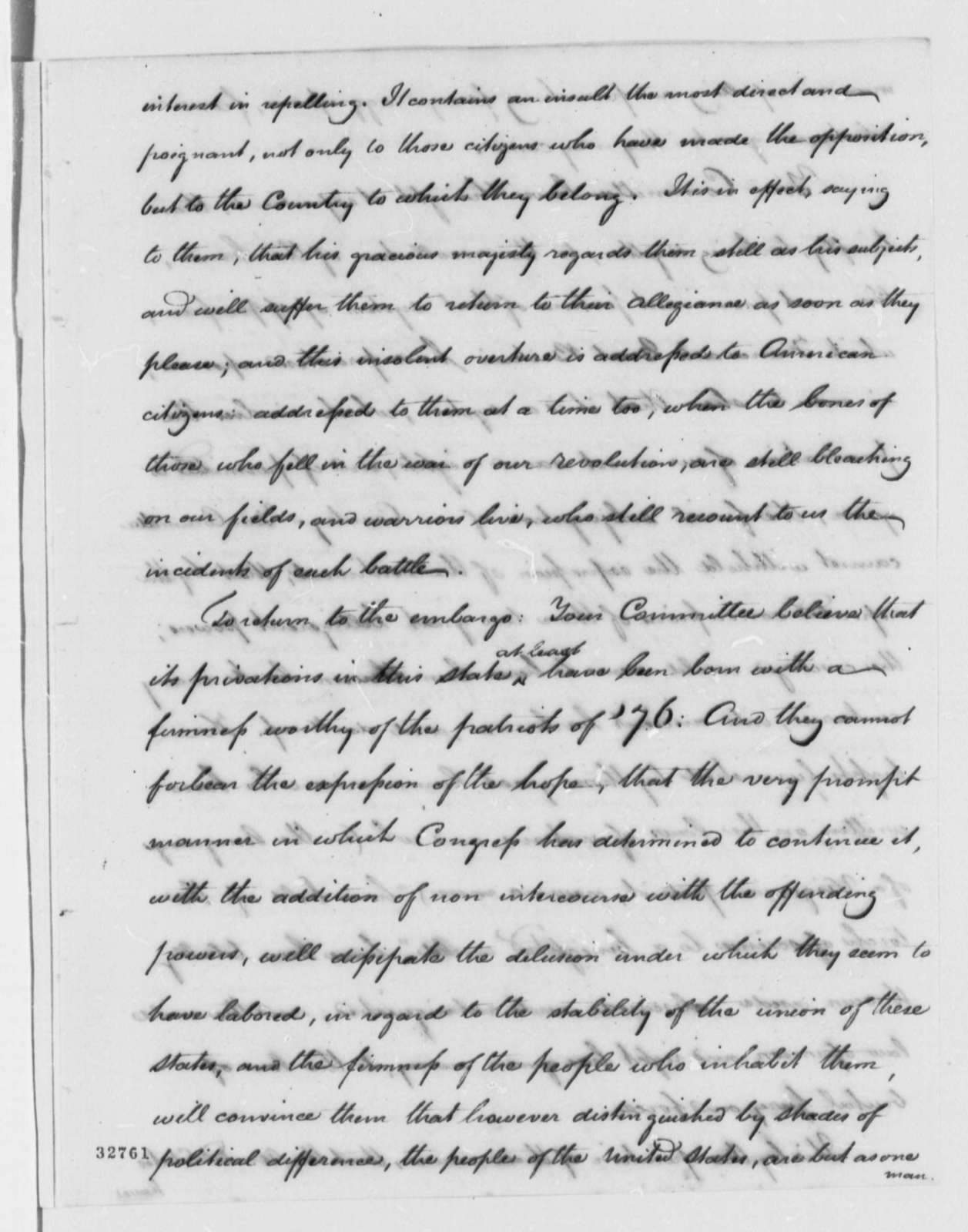 Virginia General Assembly, January 6, 1809, Resolutions on Foreign Relations