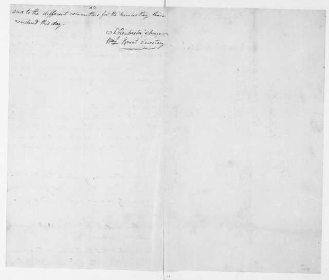 Washington Co. Maryland Republicans to James Madison, March 6, 1809. With Resolutions.