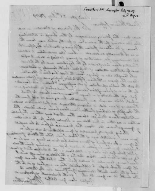 William Caruthers to Thomas Jefferson, July 25, 1809