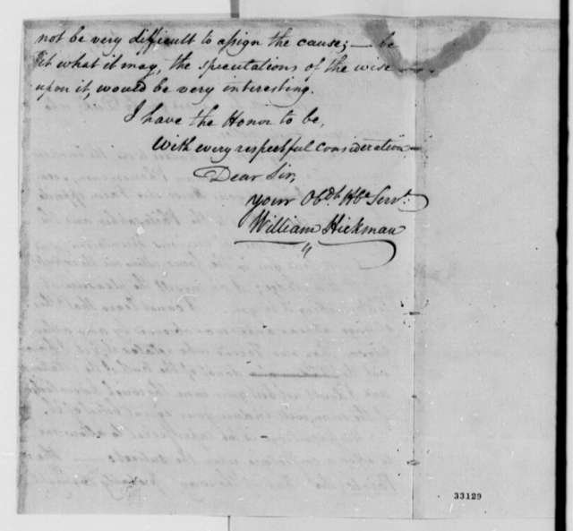 William Hickman to Ferdinando Fairfax, February 26, 1809