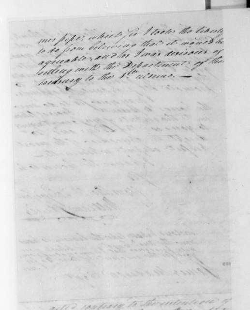 William Jarvis to James Madison, February 25, 1809. With Account.
