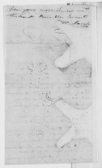 William Mumford to Thomas Jefferson, February 9, 1809, Mutilated