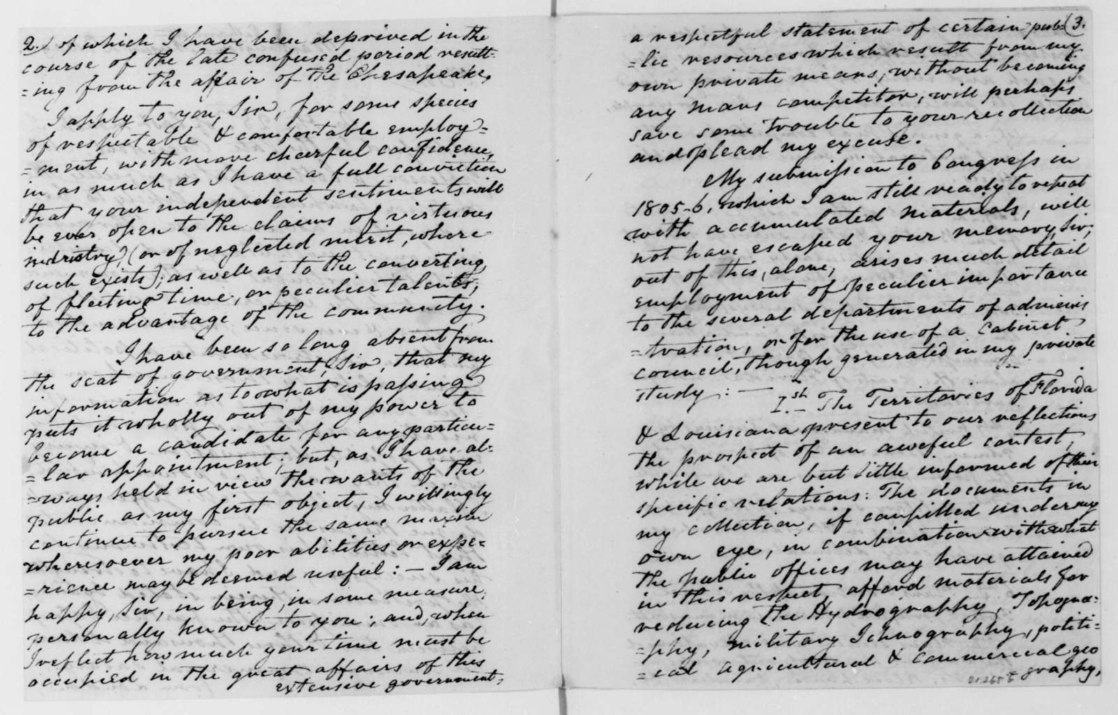 William Tatham to James Madison, August 18, 1809.
