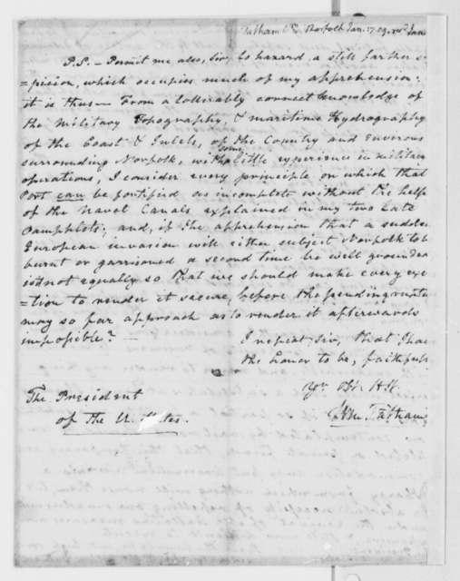 William Tatham to Thomas Jefferson, January 17, 1809