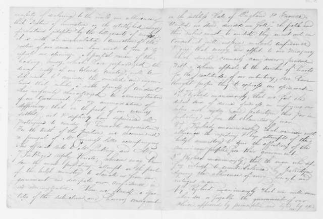 William Thompson and William Barnett to Thomas Jefferson, February 14, 1809. Includes Feb. 10, 1809 Resolution of Elbert Co. GA.
