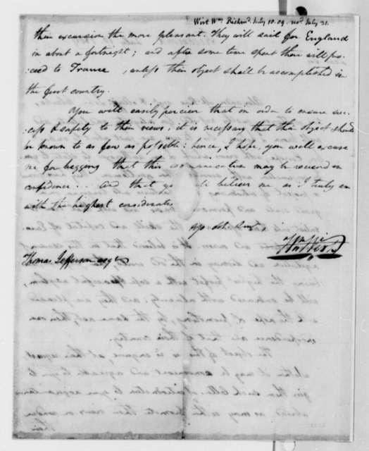 William Wirt to Thomas Jefferson, July 10, 1809