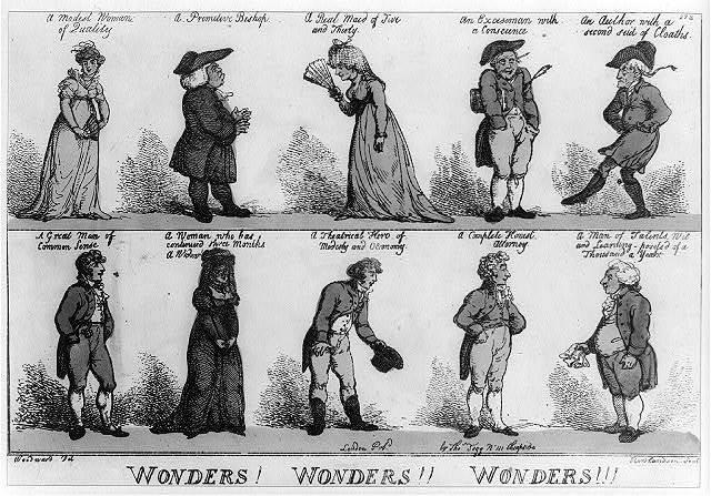 Wonders! Wonders!! Wonders!!! / Woodward, del. ; Rowlandson, scul.