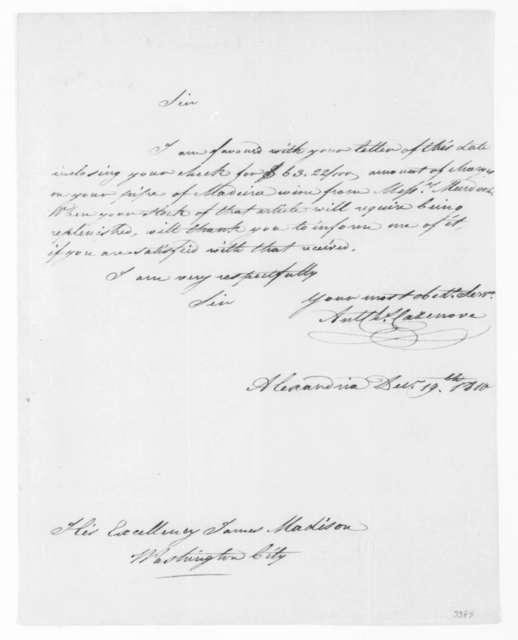 A. C. Cazenove to James Madison, December 19, 1810.