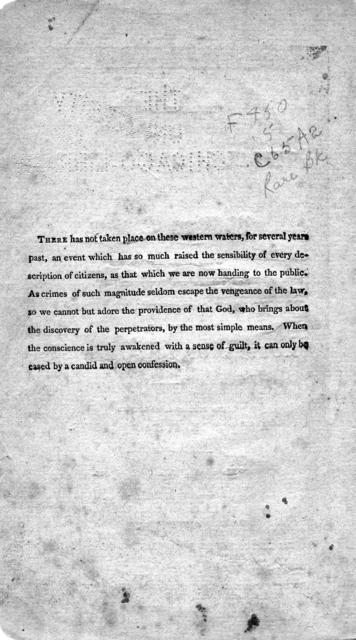 A concise statement of the trial & confession of William Clutter : who was executed on Friday the 8th of June, 1810, at Boone courthouse, Kentucky, for the murder of John Farmer. To which is prefixed a short sketch of his life