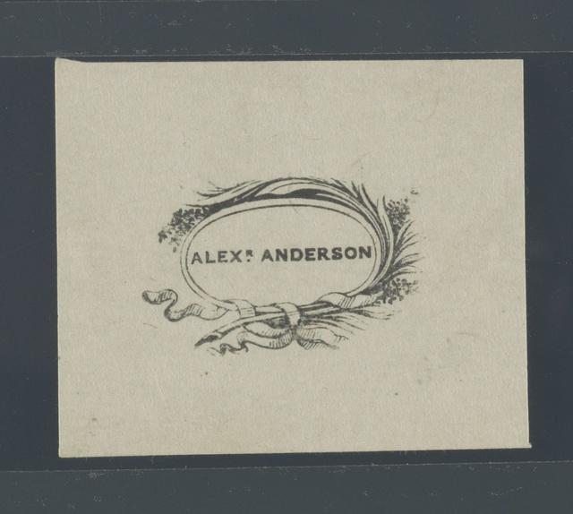 Alexr. Anderson