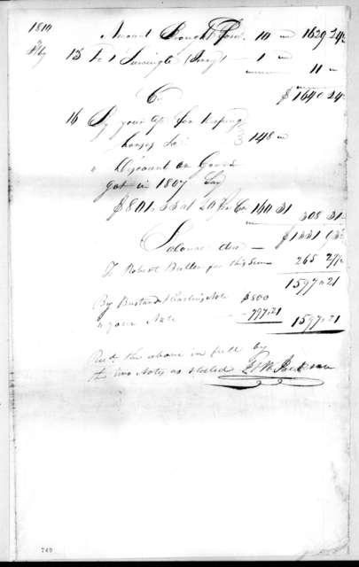 Andrew Jackson, February 15, 1810