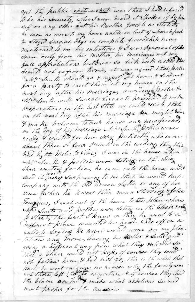 Ben Smith to Andrew Jackson, May 1, 1810