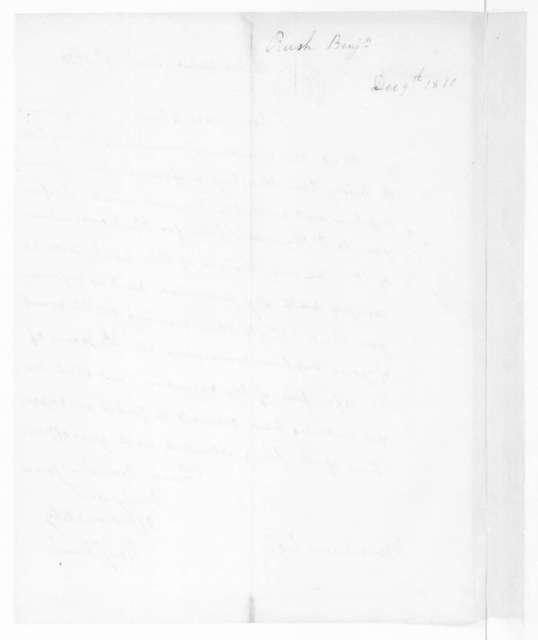 Benjamin Rush to James Madison, December 9, 1810.