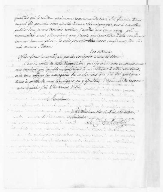 Count de Moustier to James Madison, August 2, 1810. In French.