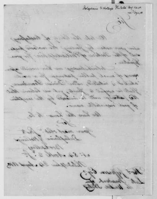 Delaplaine & Hellings to Thomas Jefferson, August 24, 1810