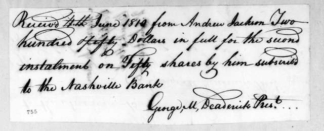 George Michael Deaderick to Andrew Jackson, June 4, 1810