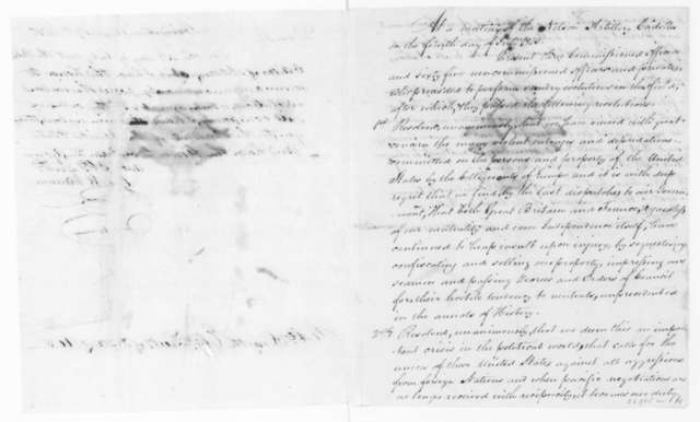 George W. Varnum to Robert Smith, August 7, 1810. Includes resolutions of Nelson Artillery Cadets.