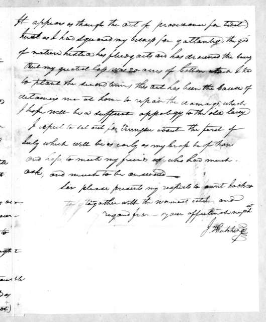 John Hutchings to Andrew Jackson, May 23, 1810