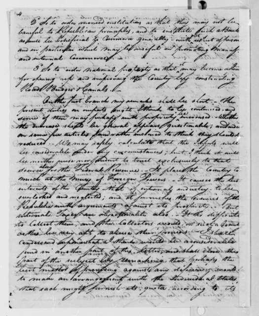 John Melish to James Madison, February 7, 1810