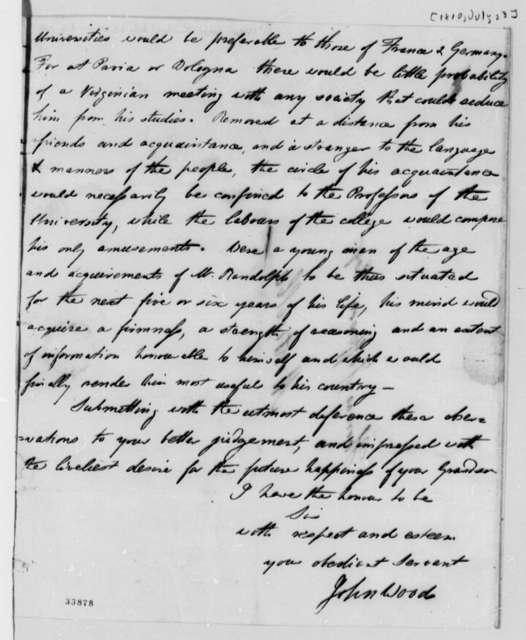 John Wood to Thomas Jefferson, July 23, 1810