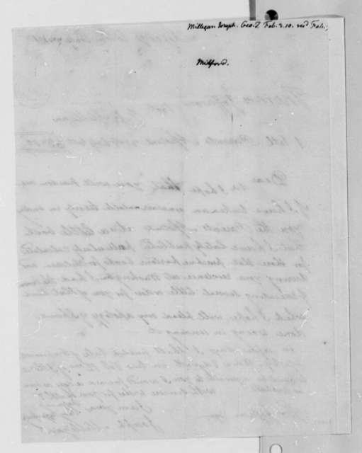Joseph Milligan to Thomas Jefferson, February 3, 1810
