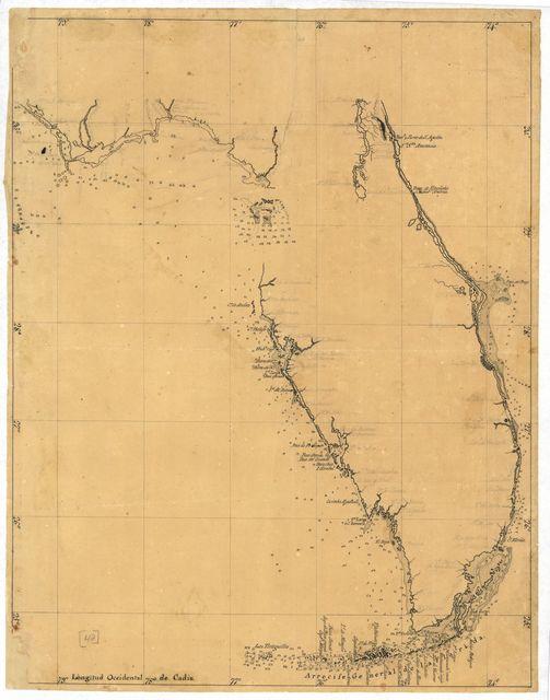 [Map of the Florida Peninsula].