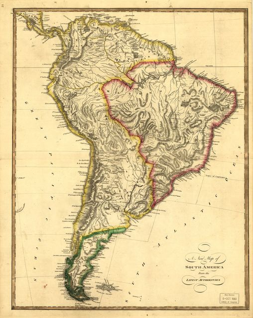 New map of South America from the latest authorities.