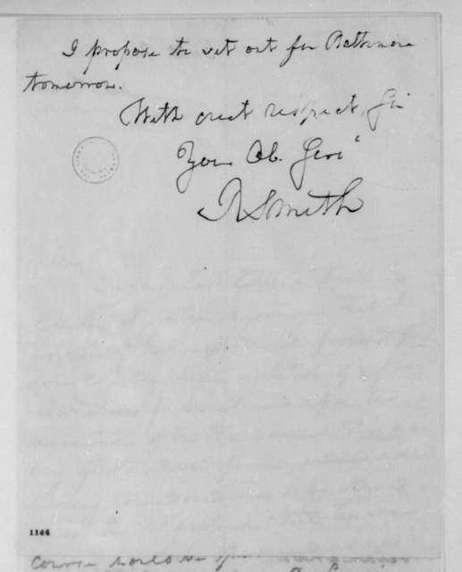 Robert Smith to James Madison, September 5, 1810.
