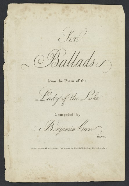 Six ballads from the poem of the Lady of the Lake