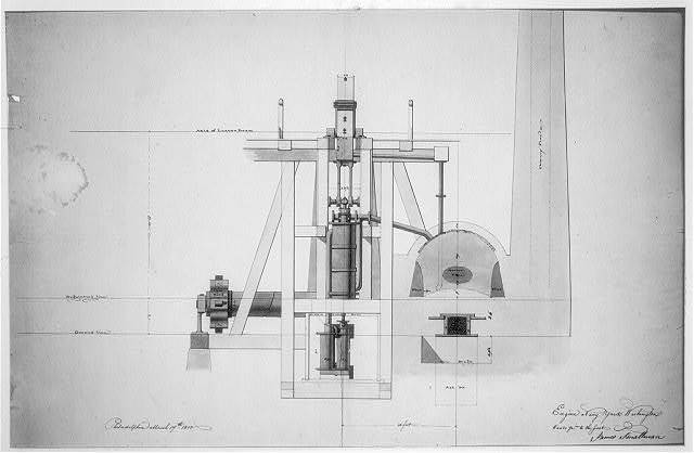 [Steam engine, Washington Navy Yard, Washington, D.C. Transverse section - engine]