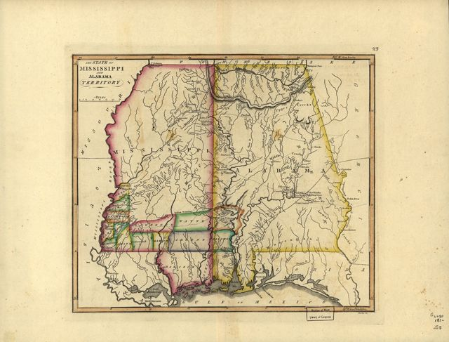 The state of Mississippi and Alabama territory.