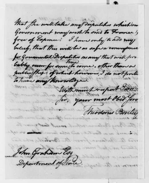Theodorus Bailey to John A. Graham, May 21, 1810