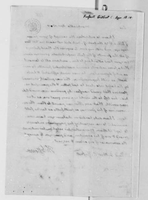 Thomas Jefferson to Gilbert C. Russell, April 18, 1810