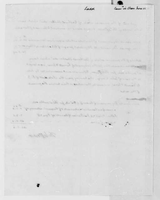 Thomas Jefferson to Thomas Ladd, June 11, 1810, with Statement of Account