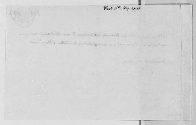 Thomas Jefferson to William Wirt, August 20, 1810, Note