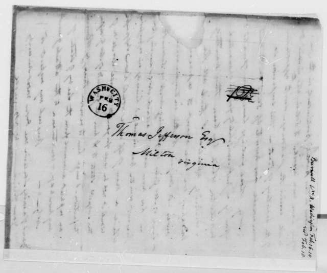 William A. Burwell to Thomas Jefferson, February 16, 1810