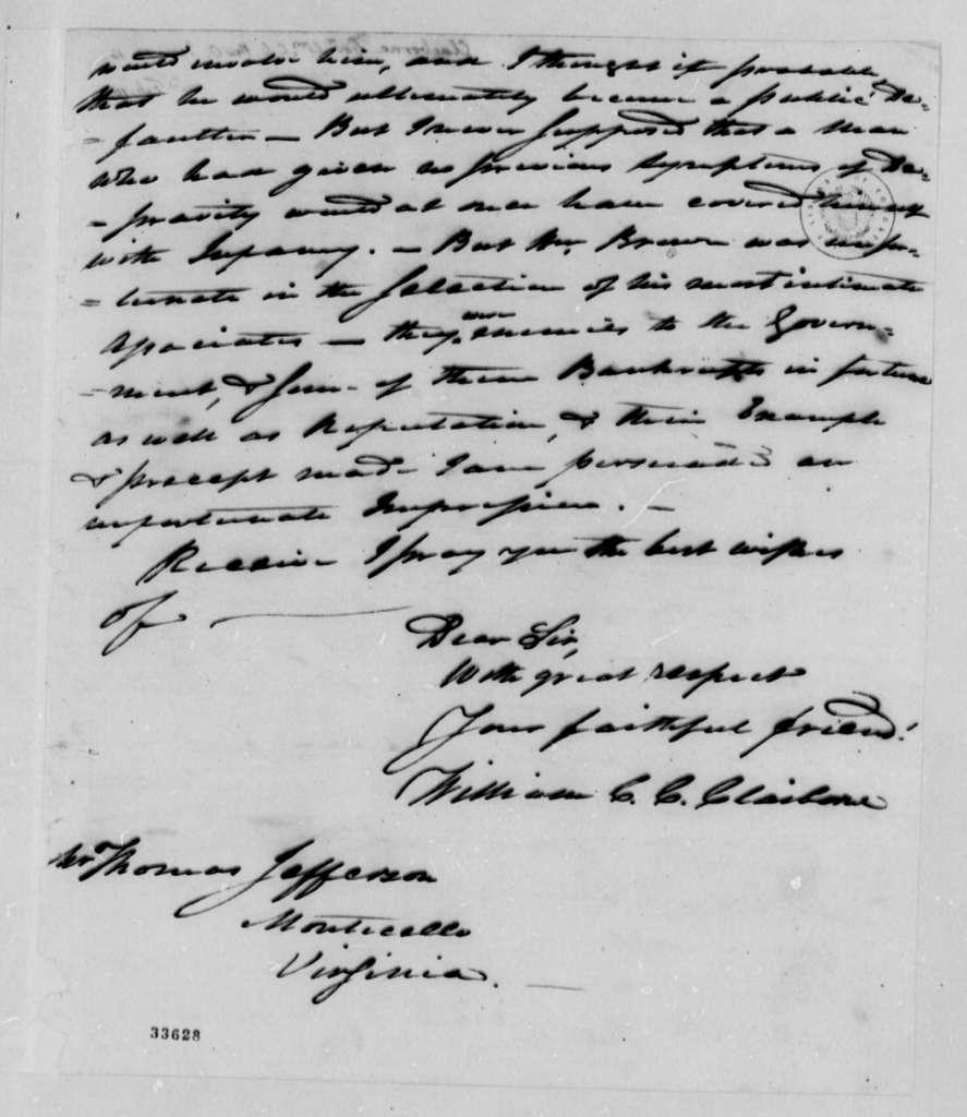 William C. C. Claiborne to Thomas Jefferson, January 12, 1810, with Copy