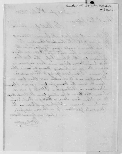 William Caruthers to Thomas Jefferson, November 4, 1810