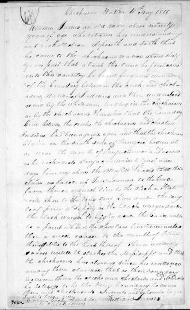 William James, May 10, 1810