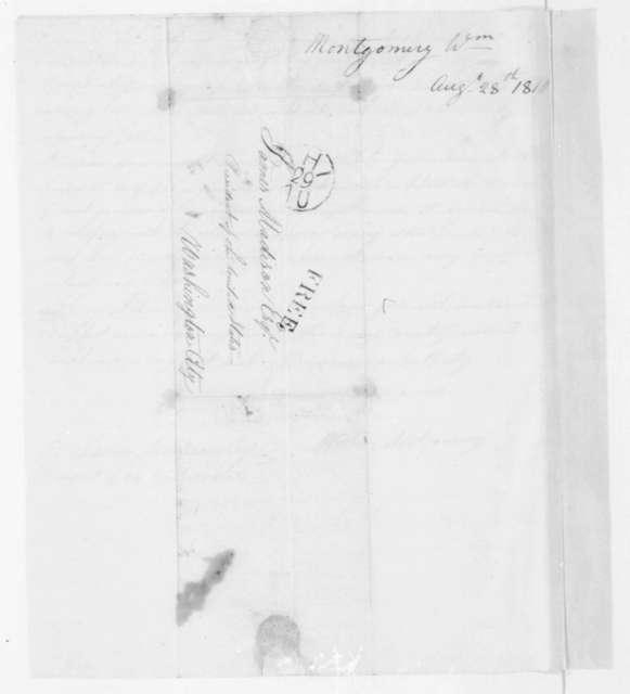 William Montgomery to James Madison, August 28, 1810.