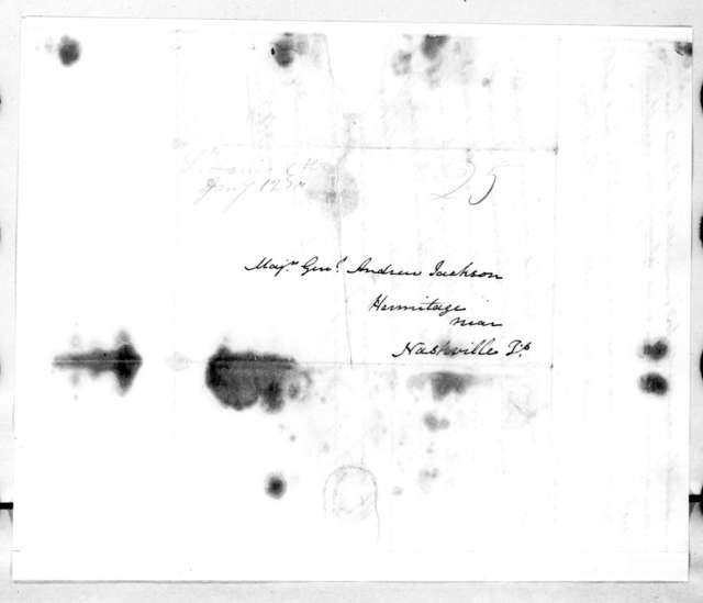 William Oliver Allen to Andrew Jackson, January 10, 1810