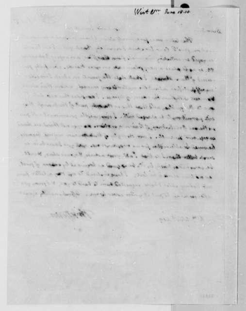 William Wirt to Thomas Jefferson, June 18, 1810