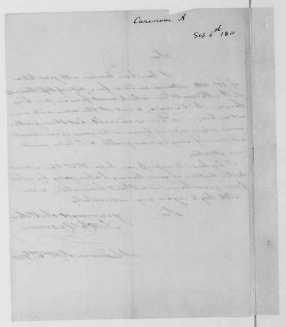 A. C. Cazenove to James Madison, September 6, 1811.